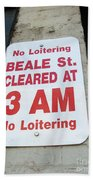 Beale Street Sign Beach Towel
