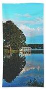 Beautiful Bunn Lake - Zebulon, North Carolina Beach Towel