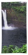 Beautiful Rainbow Falls 2 Beach Towel