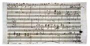 Beethoven Manuscript Beach Towel