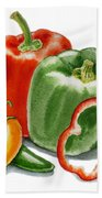 Bell Peppers Jalapeno Beach Towel