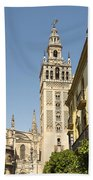 Bell Tower - Cathedral Of Seville - Seville Spain Beach Towel