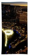 Bellagio Hotel Fountain, Las Vegas Beach Towel
