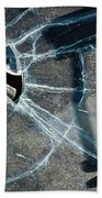 Belmont Cracked Window And Shadow 1599 Beach Towel