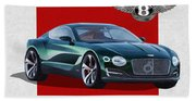 Bentley E X P  10 Speed 6 With  3 D  Badge  Beach Towel
