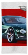 Bentley E X P  10 Speed 6 With  3 D  Badge  Beach Towel