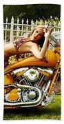 Bikes And Babes Beach Towel