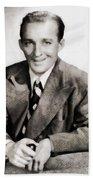 Bing Crosby, Hollywood Legend By John Springfield Beach Towel