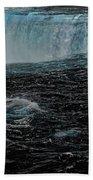 Black Niagara Beach Towel by Richard Ricci