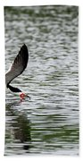 Black Skimmer Fishing Beach Towel