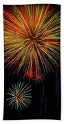 Blooming Fireworks Beach Towel