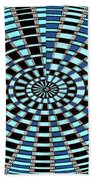 Blue And Black Abstract Beach Towel