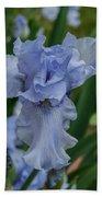 Blue Iris 2 Beach Towel