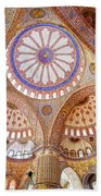 Blue Mosque Interior Beach Towel