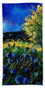 Blue Poppies  Beach Towel