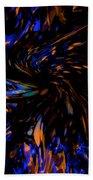 Blue Wormhole Nebula Beach Towel