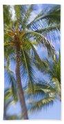 Blurry Palms Beach Towel