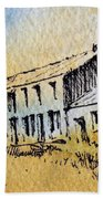 Boardinghouse Cable Ghost Town Montana Beach Towel