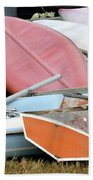 Boats Boats And More Boats Beach Towel