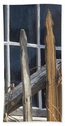 Bodie Picket Fence And Window Beach Towel