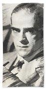 Boris Karloff, Vintage Actor Beach Towel