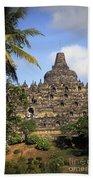 Borobudor Temple Beach Towel