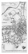 Boston Map, 1722 Beach Towel