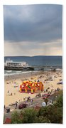 Bournemouth Pier And Beach Beach Towel