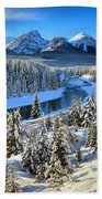 Bow Valley Winter View Beach Towel