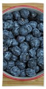 Bowl Of Fresh Blueberries Beach Towel