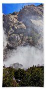 Bridalveil Fall Yosemite Valley Beach Towel