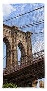 Brooklyn Bridge Ny Beach Towel