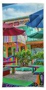 Bubble Room Restaurant - Captiva Island, Florida Beach Towel