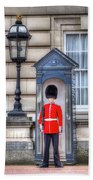 Buckingham Palace Queens Guard Beach Towel