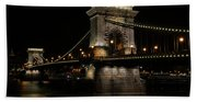Budapest At Night. Beach Towel