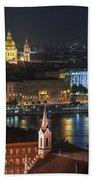 Budapest, Danube River, Hungary Beach Towel