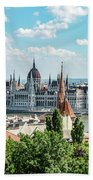 Budapest Skyline Beach Towel