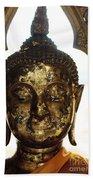 Buddha Sculpture Beach Towel