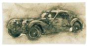 Bugatti Type 57 - Atlantic 3 - 1934 - Automotive Art - Car Posters Beach Towel