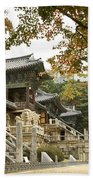 Bulguksa Buddhist Temple Beach Towel