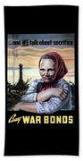 Buy War Bonds Beach Towel