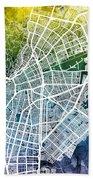 Cali Colombia City Map Beach Towel