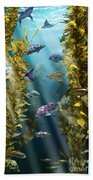 California Kelp Forest Beach Towel