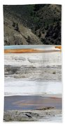 Canary Spring At Mammoth Hot Springs Upper Terraces Beach Sheet
