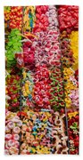 Candy Stand - La Bouqueria - Barcelona Spain Beach Towel