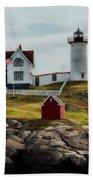 Cape Neddick Lighthouse 4 Beach Towel