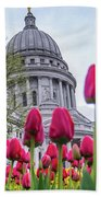 Capitol Tulips Beach Towel