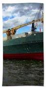 Cargo Ship Beach Towel