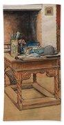 Carl Larsson - Peek-a-boo 1901 Beach Towel