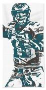 Carson Wentz Philadelphia Eagles Pixel Art 5 Beach Towel